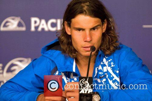 Rafal Nadal  press conference after playing in...
