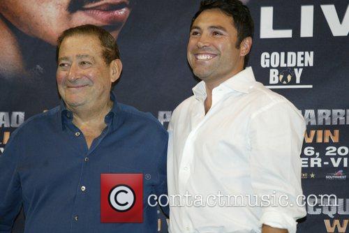 Bob Arum and Oscar De La Hoya...