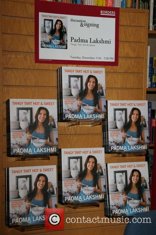Padma Lakshmi signs her latest book 'Tangy Tart...