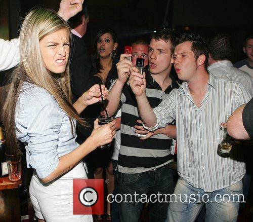 Nikki Grahame and guests at the Palace night...