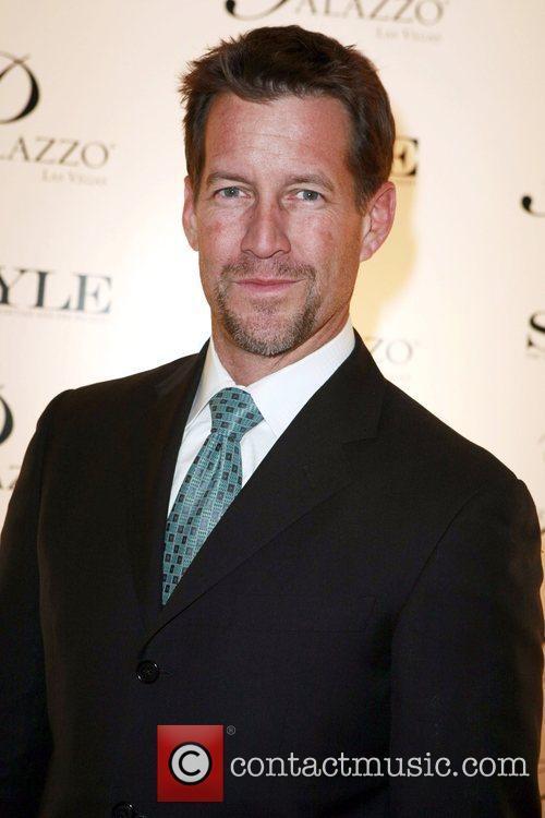 James Denton arrives at the 40/40 club after...