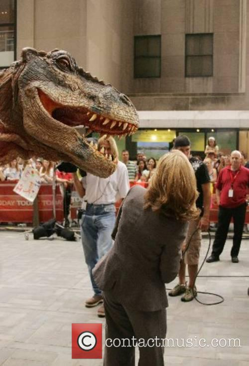 Meredith Vieira is attacked by a dinosaur on...