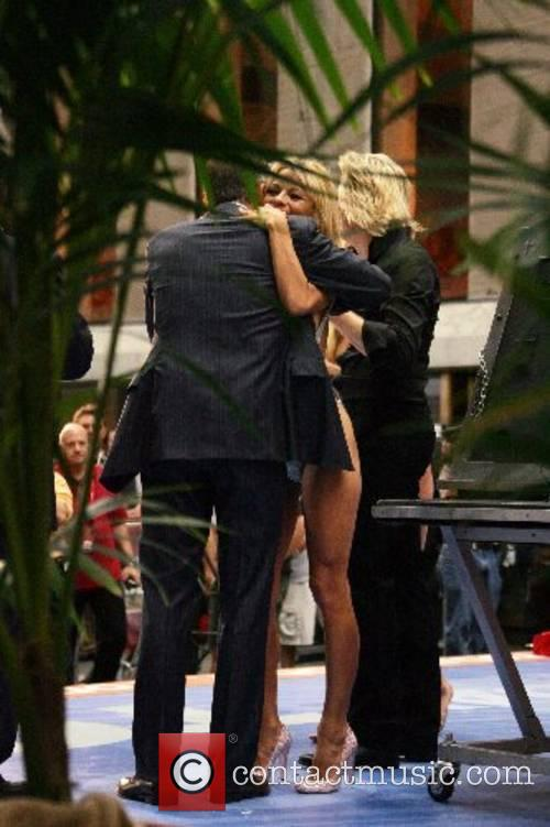 Matt Lauer, Pamela Anderson and Hans Klok Pamela...