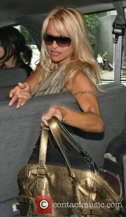 Pamela Anderson leaving ABC Studios after appearing on...