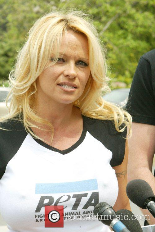 Pamela Anderson at a Peta protest, she came...