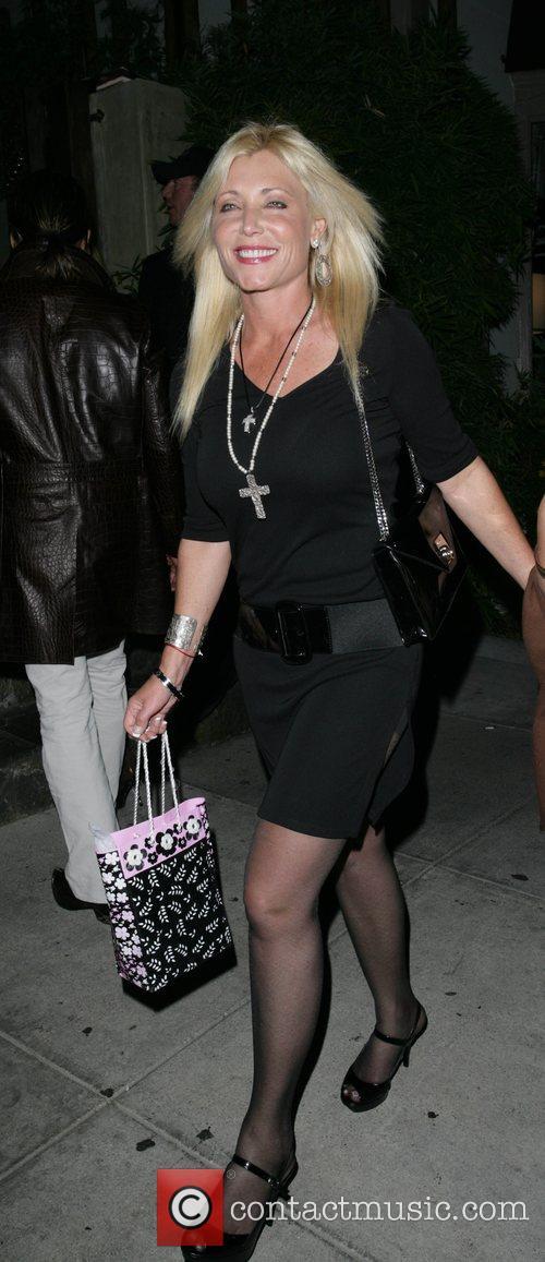 Pamela Bach outside Koi restaurant Los Angeles, California