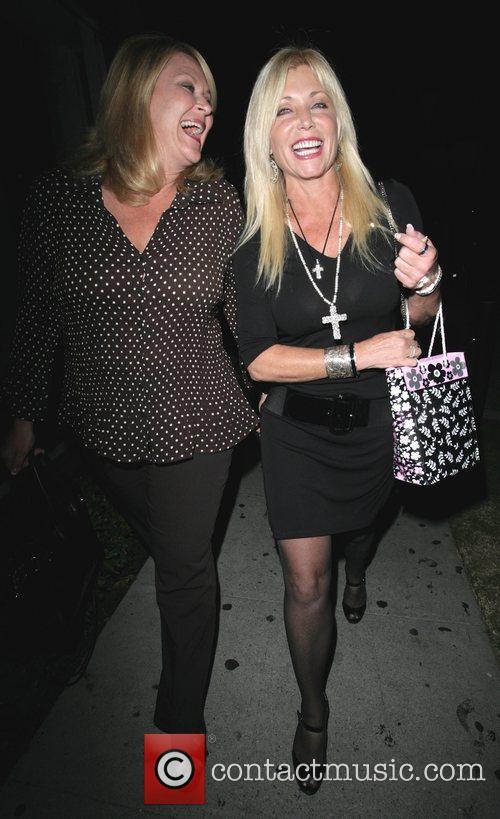Pamela Bach outside Koi restaurant with a friend...