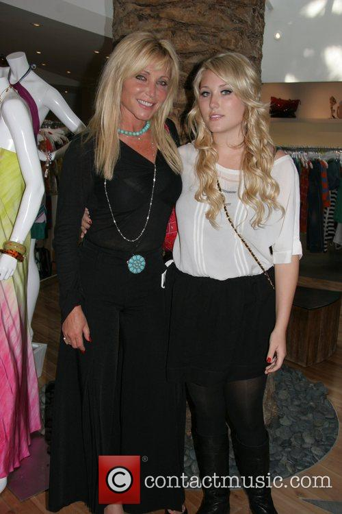 Pamela Bach and daughter Hayley Hasselhoff spending time...