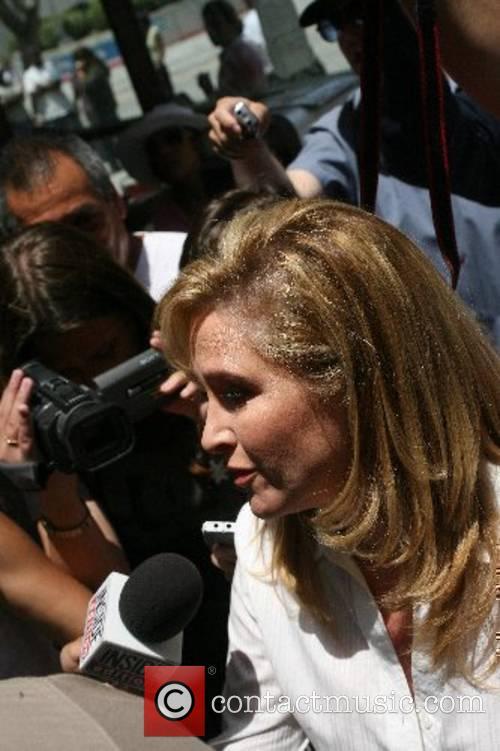 Kathy Hilton visiting her daughter Paris Hilton in...