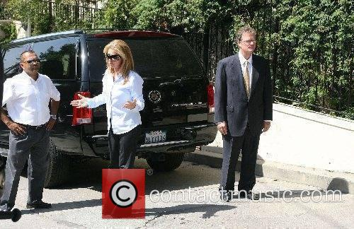 Kathy Hilton and Rick Hilton outside their Hollywood...
