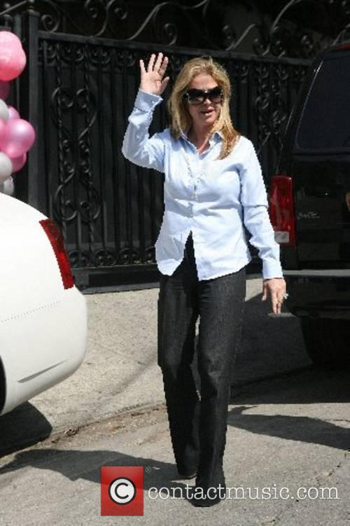 Kathy Hilton outside her Hollywood home as her...