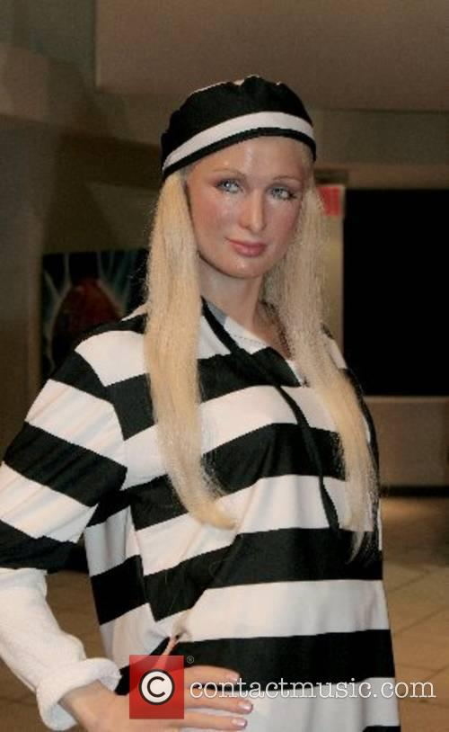 Paris Hilton's wax figure gets a prison makeover...