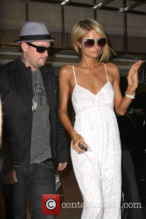 Paris Hilton drops Benji Madden to a nearby...