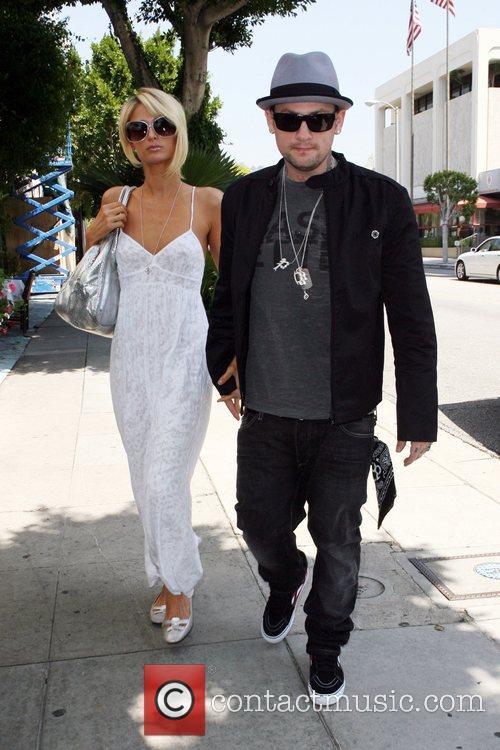 Paris Hilton and Benji Madden arrive at the...