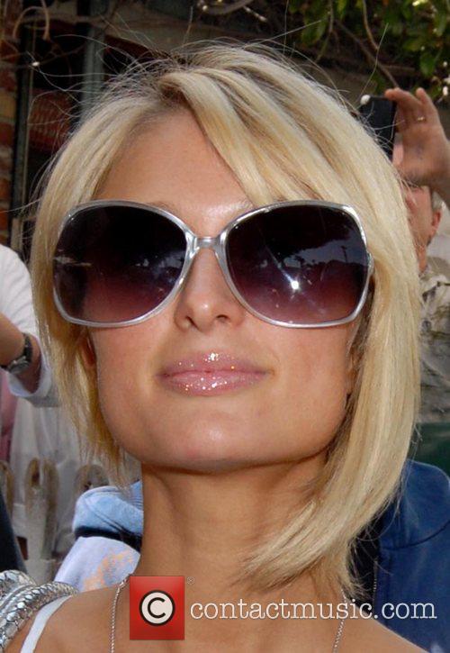 Paris Hilton leaving The Ivy Restaurant after having...