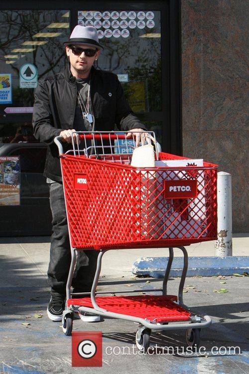 Benji Madden  shopping for pet supplies at...