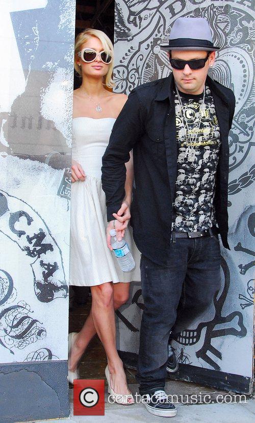 Paris Hilton and Benji Madden leaving DCMA boutique...