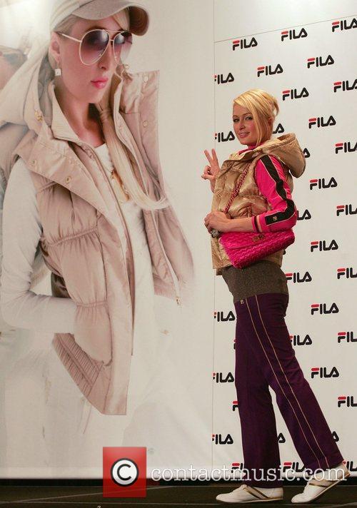 Paris Hilton  attends a news conference promoting FILA...