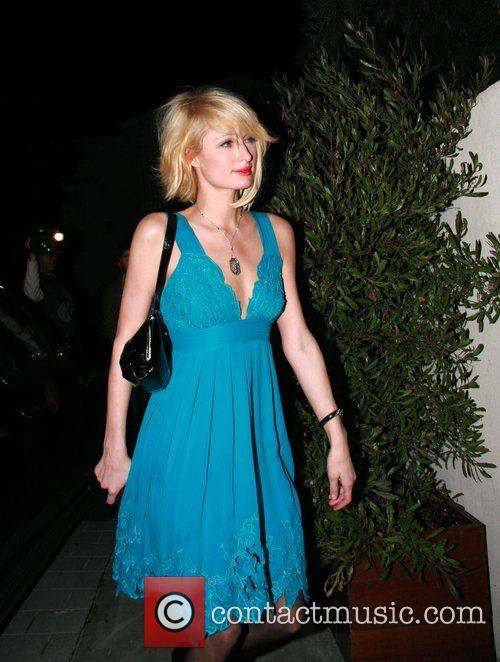 Paris Hilton arrives at an after party in...