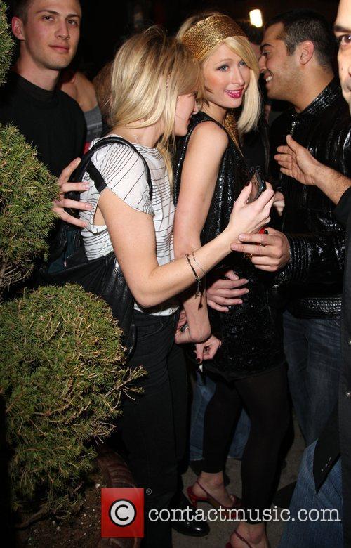 Paris Hilton parties at The Villa Lounge in...