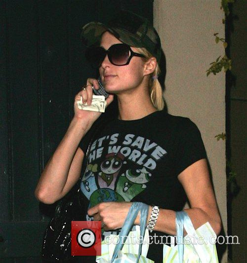 Paris Hilton leaves a skin care store in...
