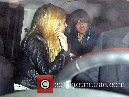 Nicky Hilton in car with Daniela Sea after...