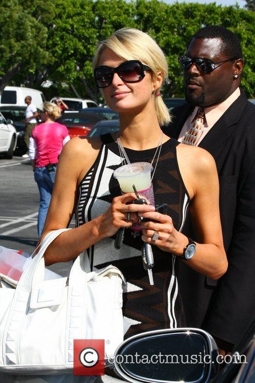 Paris Hilton shopping at Fred Segal on Melrose...