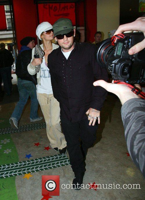 Paris Hilton and Benji Madden leaving Hamley's toy...