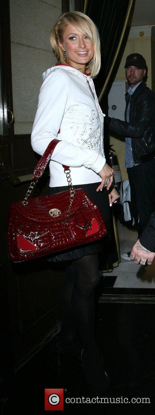 Paris Hilton arrives back at the Dorchester Hotel...