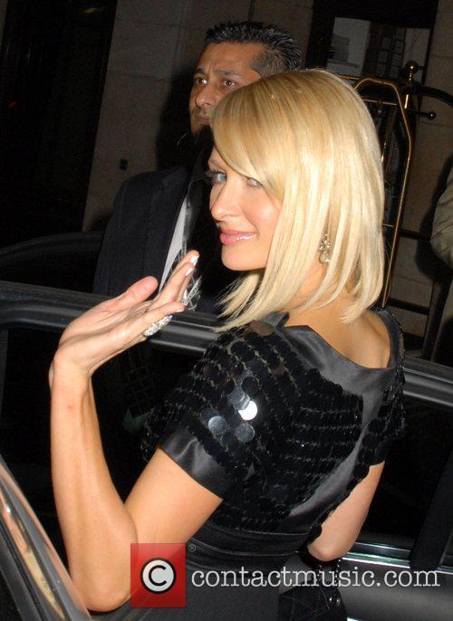 Paris Hilton  leaving the Dorchester Hotel to...