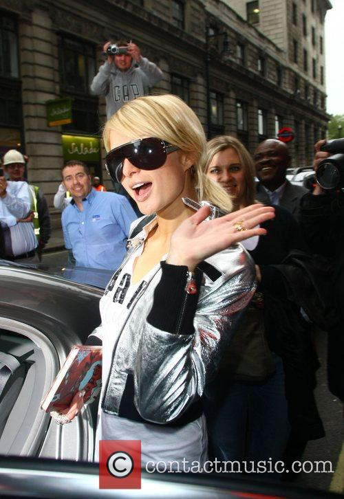 Paris Hilton leaving the Dorchester hotel to go...