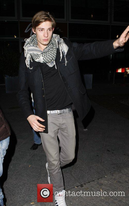 Geman Model Julian arriving at Felix nightclub Berlin,...