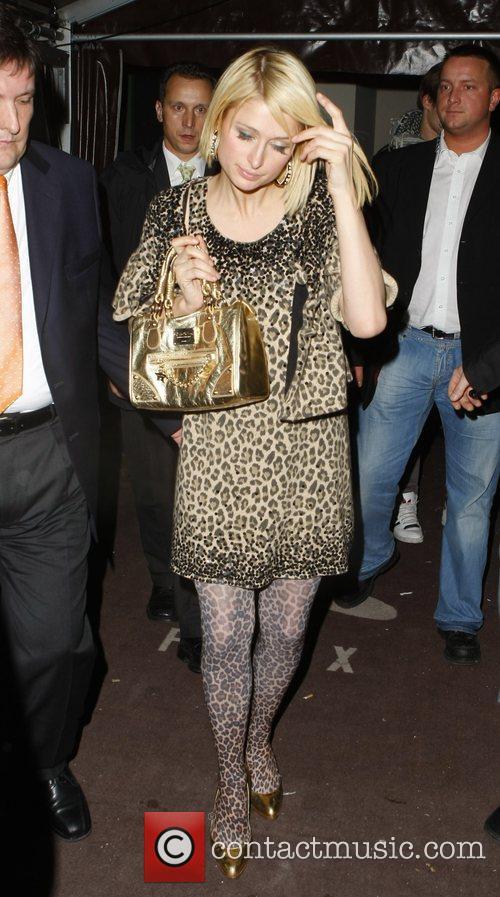 Paris Hilton arriving at Felix nightclub Berlin, Germany