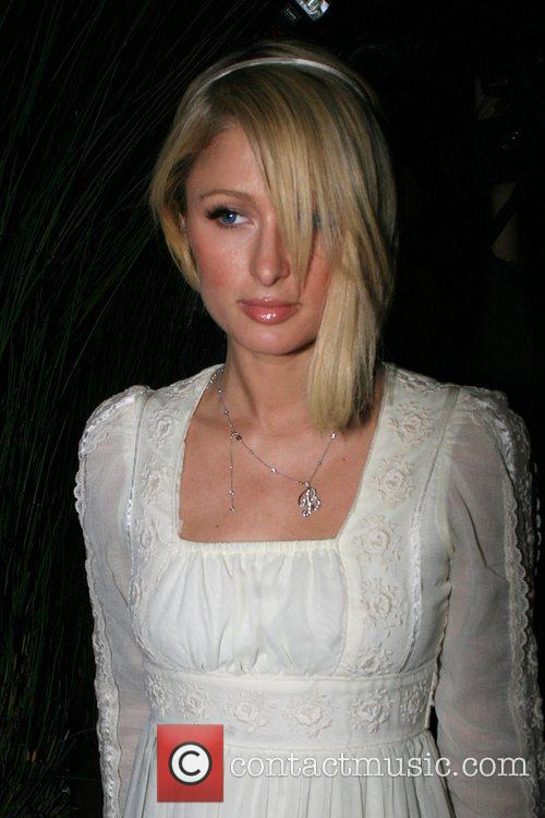 Paris Hilton leaving the Bodhi Tree bookstore after...