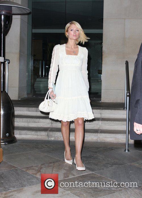 Paris Hilton leaving L'Ermitage Hotel of Beverly Hills...