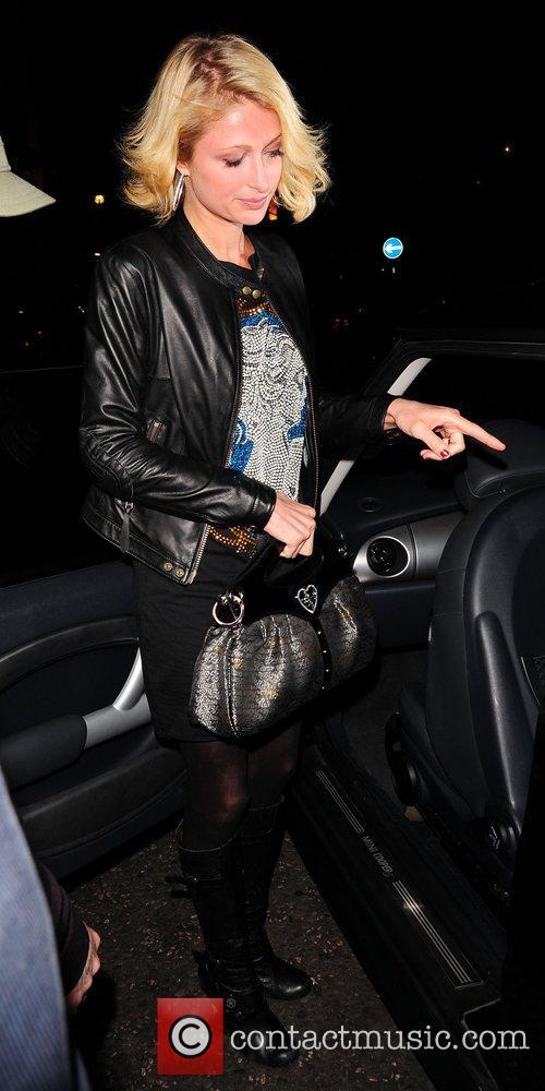 Paris Hilton leaving the Hilton hotel London, England