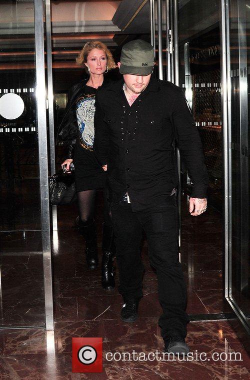 Paris Hilton and Benji Madden leaving the Hilton...