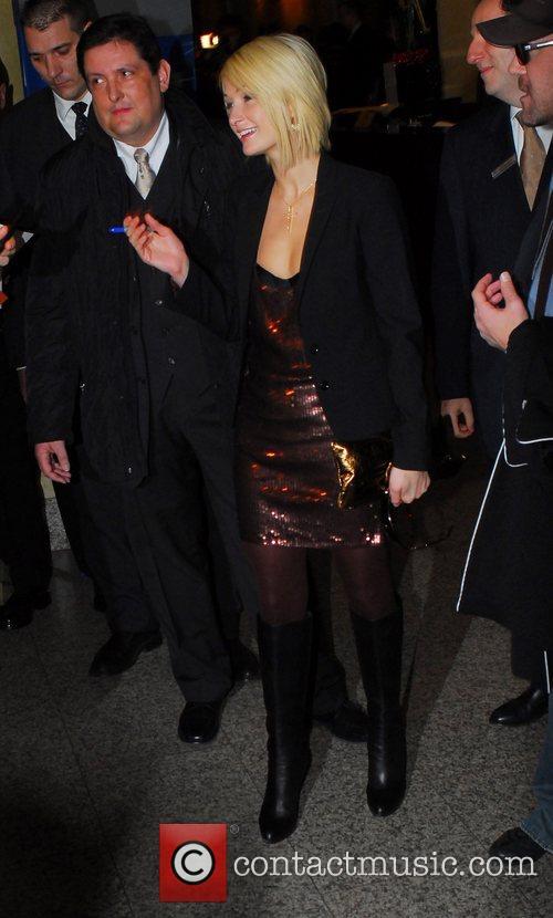 Paris Hilton leaving Hilton Berlin hotel to hold...