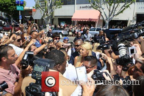 Paris Hilton's clothing line launch at Kitson. Hilton,...