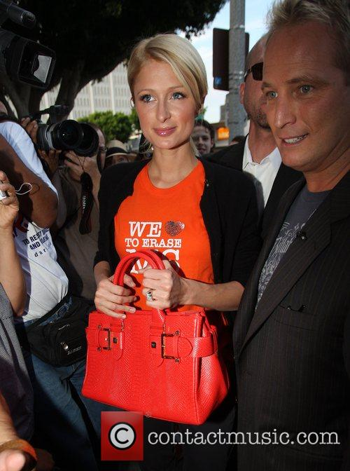 Paris Hilton, Ken Olandt Aka Cyber Guy Go To Kitson Boutique On Robertson Boulevard To Promote An Auction and Offering Fans The Chance To Go On A Shopping Spree With Her. 8