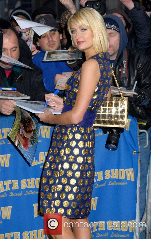 Paris Hilton and David Letterman 10