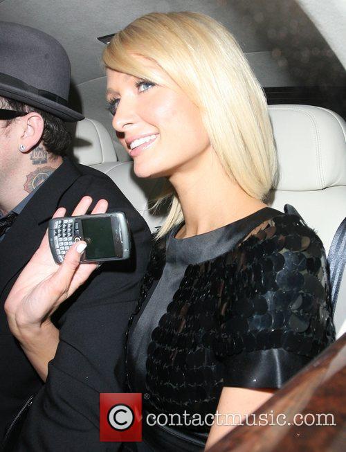 Paris Hilton leaving Nobu Berkeley restaurant. London, England
