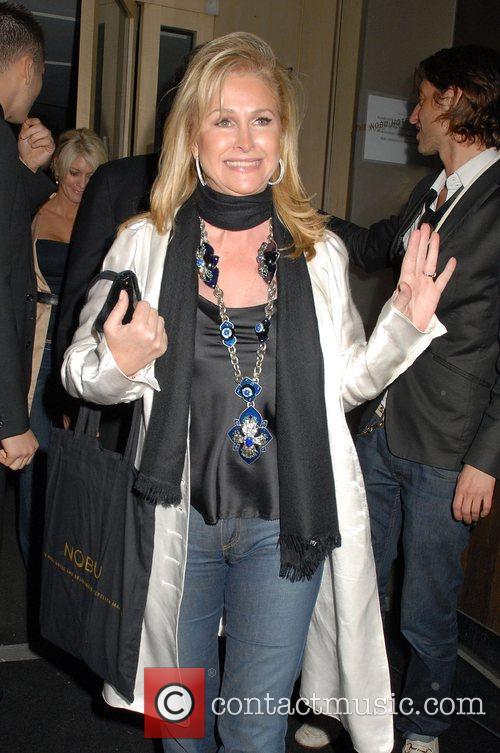 Kathy Hilton leaving Nobu Berkeley restaurant. London, England