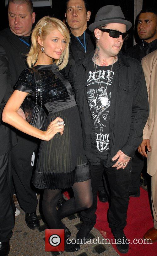 Paris Hilton and Benji Madden at Dolce Nightclub...