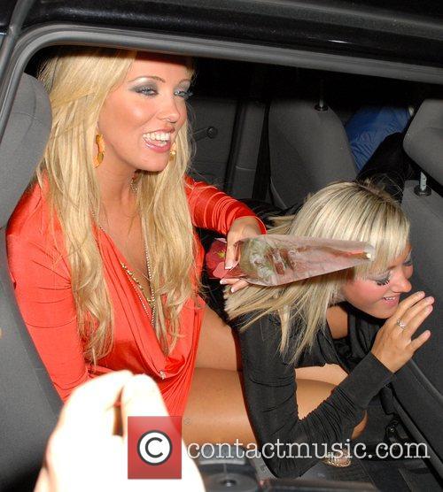 Aisleyne Horgan-Wallace with a friend Attends Paris Hilton's...