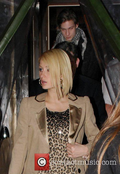 Paris Hilton leaving with Ovest restaunt with German...