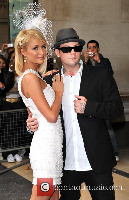 Paris Hilton and Benji Madden Paris Hilton promotes...