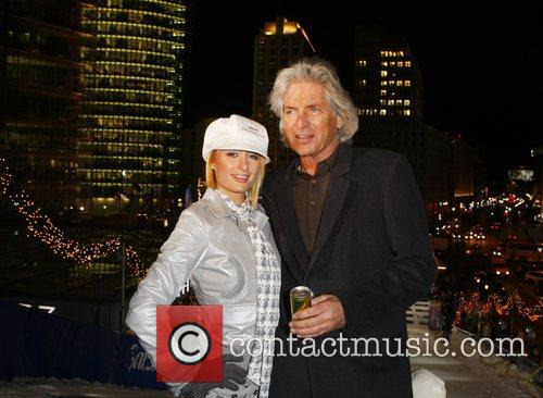 Paris Hilton, Guenther Aloys at the artificial ski...