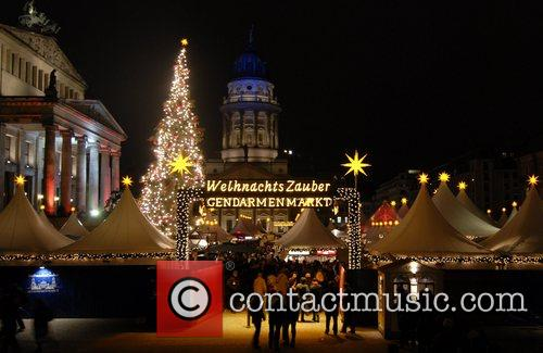 Christmas market at Gendarmenmarkt square