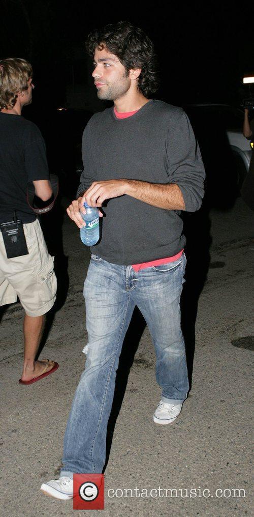 Adrian Grenier  leaving Paris Hilton's home for...
